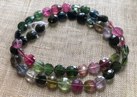 Tourmaline Faceted Coin Strand