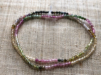 2mm Faceted Tourmaline, Strand