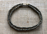 3mm Faceted Round Marcasite, Strand
