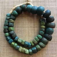 Rare Blue and Green Hebron Beads