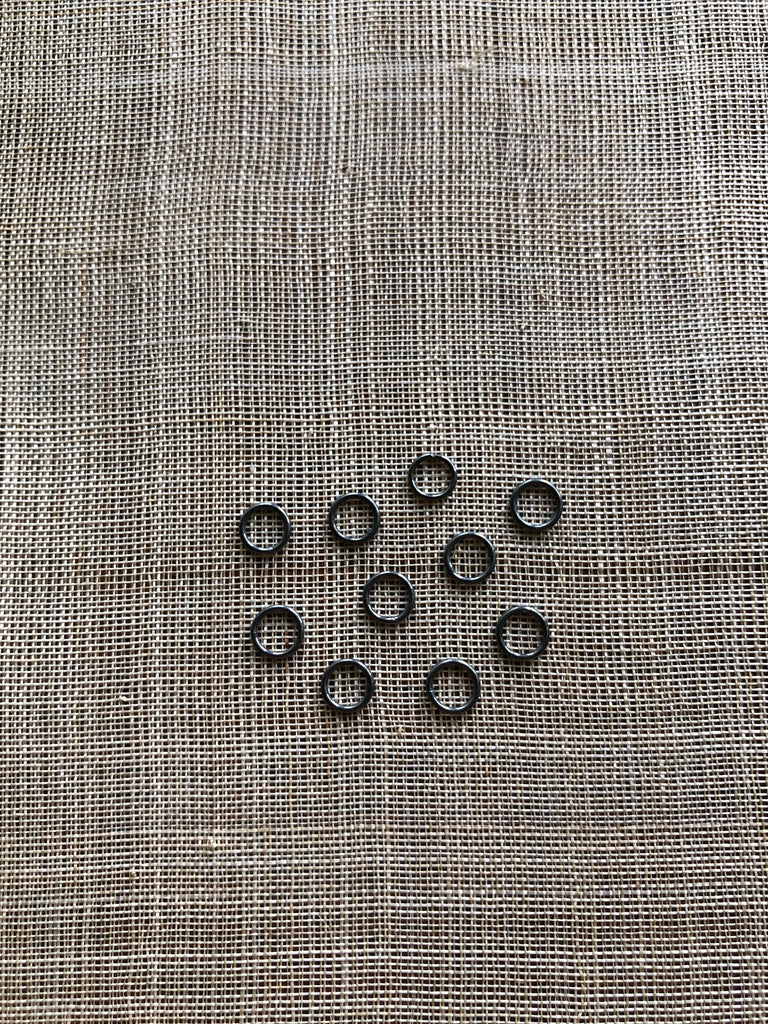6mm Oxidized Sterling Soldered Jump Ring