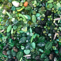 Mixed Green Glass One Pound Bag