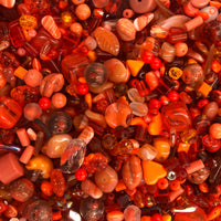 Mixed Orange Glass One Pound Bag