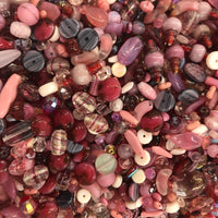 Mixed Pink Glass One Pound Bag