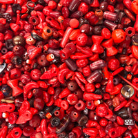 Mixed Red Glass One Pound Bag