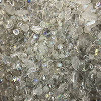 Mixed Clear Glass One Pound Bag