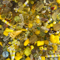 Mixed Yellow Glass One Pound Bag