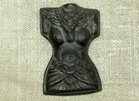 Small Balinese Female Torso, Hand-Carved Palmwood