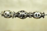 Antique Coin Silver Filigree Bead