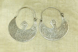 Antique Afghan Silver Earrings