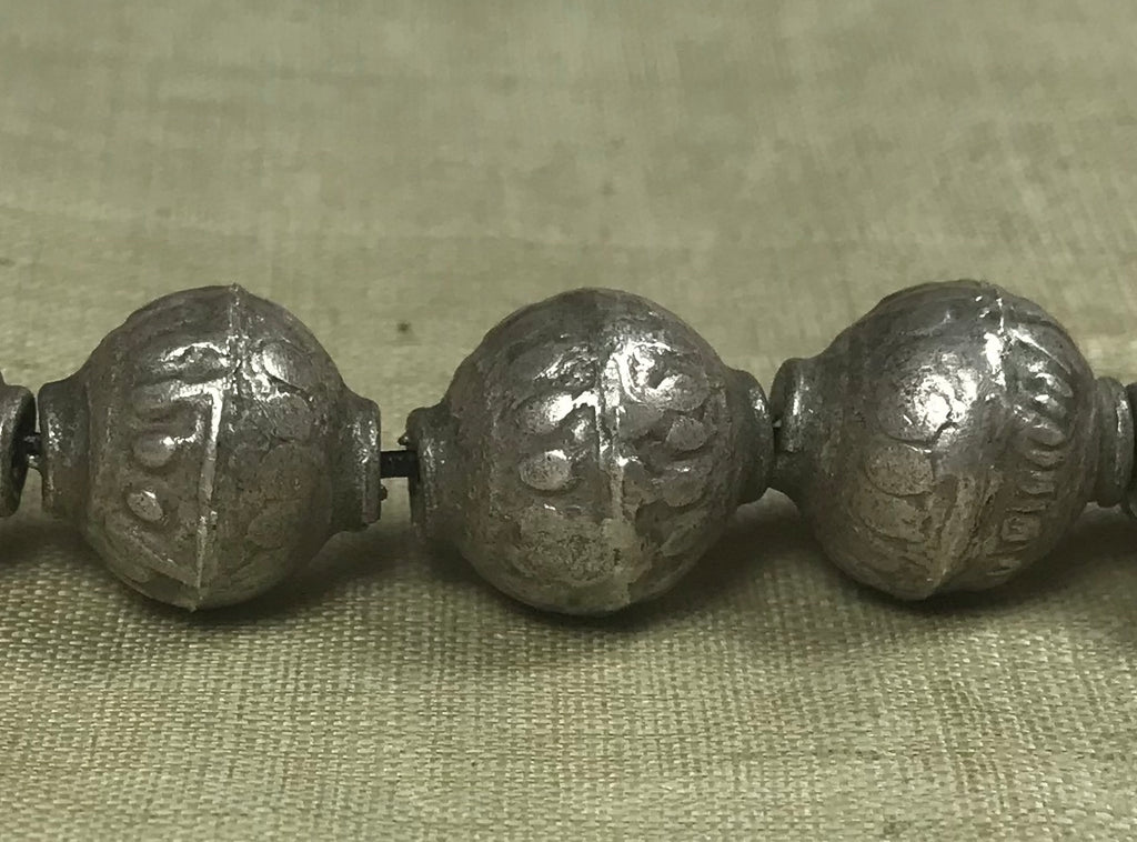 Antique Silver Bead from Afghanistan