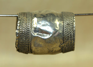 Large Polished Silver Bead from Afghanistan