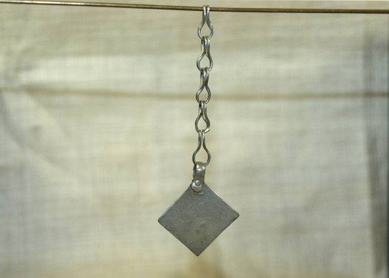 Afghan Coin Silver Drops on Chain