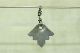 "Flat Coin Silver ""leaves"" dangles from Afghanistan"