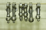 Set of Six Vintage Afghan Silver dangles