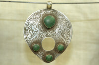 Antique Afghan Silver with Turquoise  Pendant