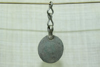 Round Coin Silver Dangle with Chain