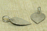 Flat Coin Silver Spade Dangle from Afghanistan