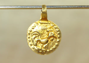 Small Lovely Gold Rooster Pendant from Thailand