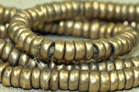 Strand of smooth 6mm Brass Beads