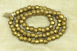 Strand of rustic 7-8mm faceted Brass Bicone Beads