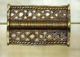 Traditional Baule Brass Bead, Large