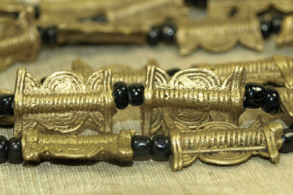 Very Small Flat Traditional Shape Lost Wax Brass Beads