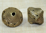 Whorl-Design Brass Baule Beads