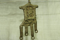 Brass Chair Fetish pendant from Baule
