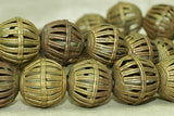 Strand of New Baule Brass Wire Cage Beads