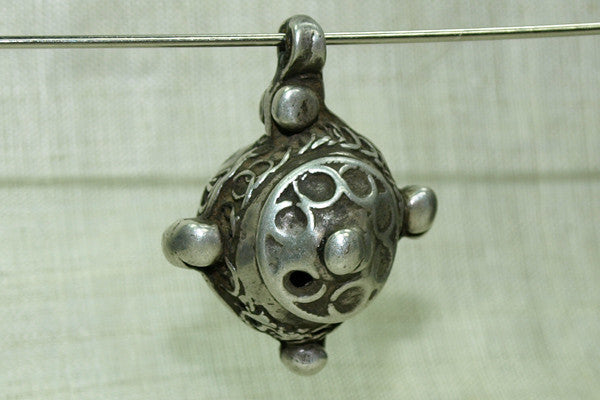 Rare Berber High Silver Hair Ornament, F