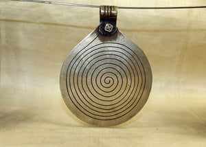 "Huge Vintage Silver Berber ""Eye of God"" Pendant"