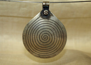 "Large Vintage Silver Moroccan Berber ""Eye of God"" Pendant"
