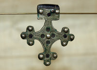 Antique Silver and wooden cross from Morocco