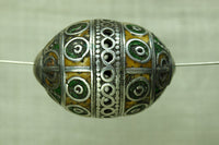 Vintage Silver and Enamel Berber Egg-Shaped Pendant