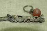 Old Chinese Silver Dragon Sword Pendant