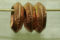 Traditional Hair rings from Ethiopia with Coppery finish