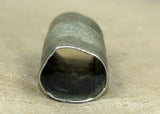 Unique Cylindrical Silver Hair Bead from Ethiopia