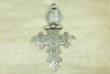 Old Ethiopian Silver Coptic Cross with Hinge