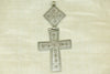 Antique Ethiopian Silver Coptic Cross with Hinge