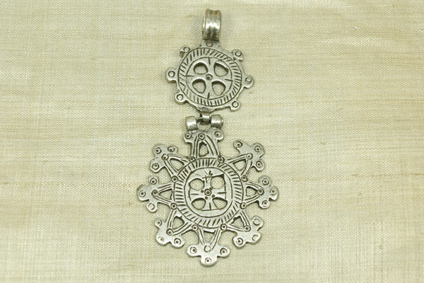 Old Silver Coptic Cross with Hinge