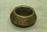 Large Heavy Dark Brass Hair Ring from Ethiopia
