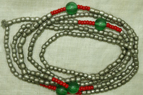 Long Strand of Antique Ethiopian Silver Beads
