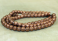 Ethiopian 8mm Copper Rounds, strand