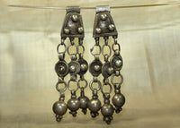 Pair of Antique Silver Dangles, Harari Tribe of Ethiopia