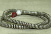 Strand of Small Silver Hesihi Beads from Ethiopia