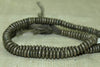 Strand of Small Dark Silver Hesihi Beads from Ethiopia