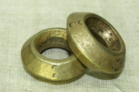 Pair of Antique Ethiopian Brass rings with