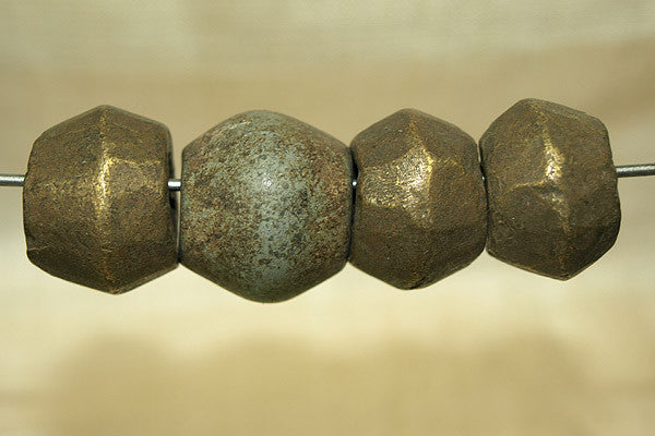 Set of Bronze/brass bicone beads from Ethiopia