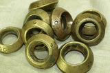Cast Antique Brass Hair Ring from Ethiopia